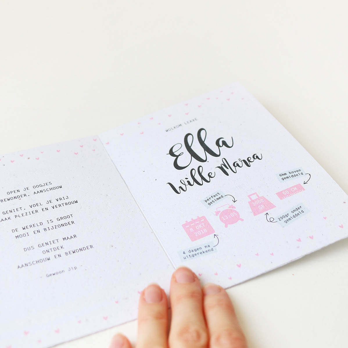 Studio Chris10 - Geboortekaartje ontwerp Ella