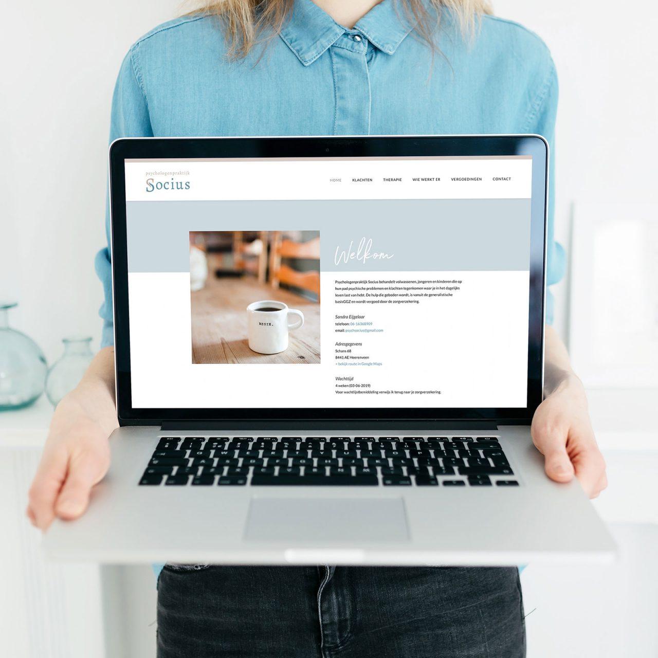 Studio Chris10 - Website voor Psychologenpraktijk Socius